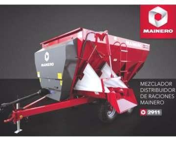 mixer horizontal mainero 2911 de 8.5 m3 de capacidad.