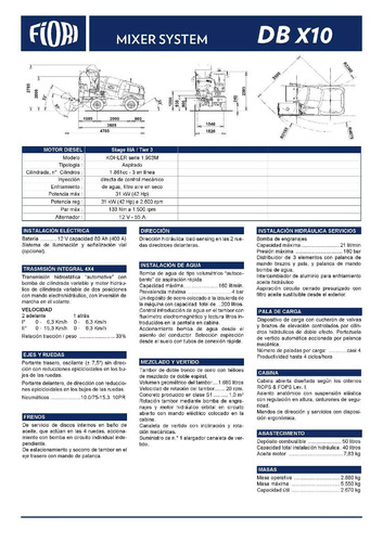 mixer hormigonero autocargable fiori db-x10! precio anticipo