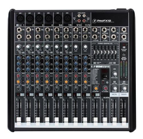 mixer mackie pro fx-12 - 8 canales - eq 7 bandas