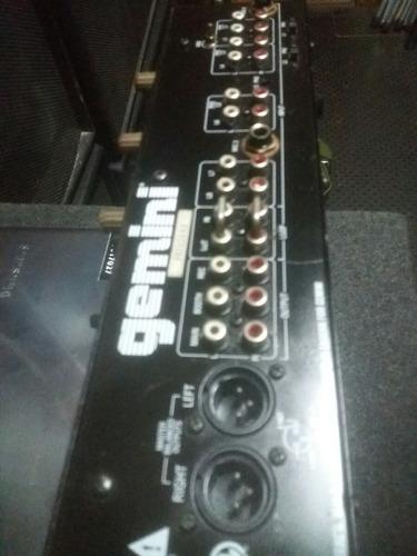 mixer. mescladora gemini platinum ps.700.8 canales 3 microfo