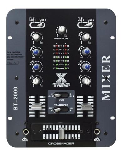 mixer mezcladora bt 2000 dj 2 canales