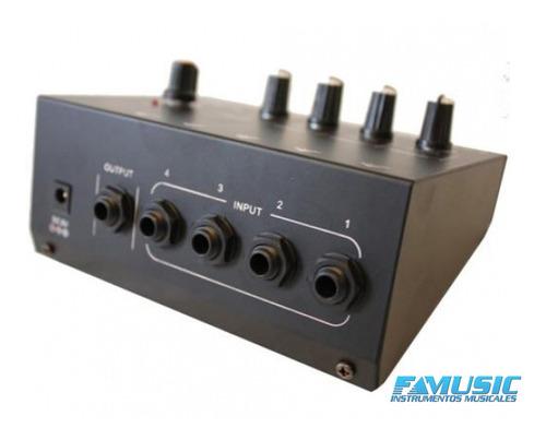 mixer mini n-audio mix400 mono 4 canales + master