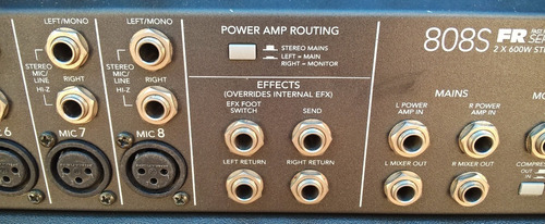 mixer potenciado mackie 808s made in usa 1200w 8 canales