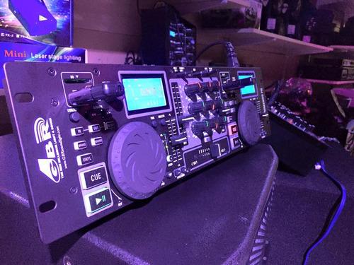 mixer profesional doble mp3 gbr control 6 usb/sd