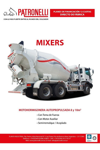 mixer ,trompo hormigonero 0km