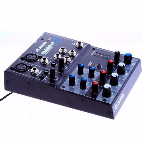 mixer usb com 4 canais alesis multimix 4 usb desktop