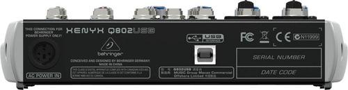mixer xenyx q802usb con interfaz behringer