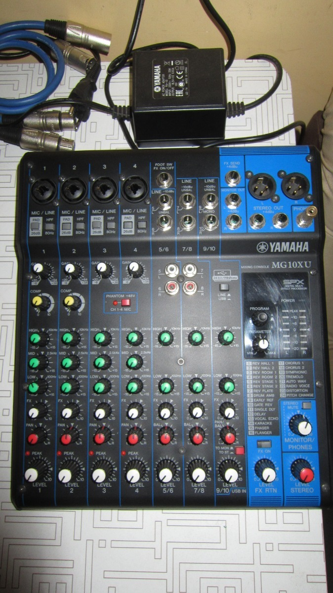 Mixer Yamaha Mg10xu Used S 750 En Mercado Libre Cargando Zoom