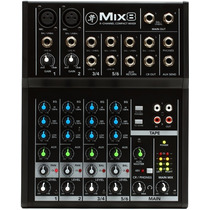 Consola Mackie Mix8 8ch 2mic+2line St, Todas C/ Eq
