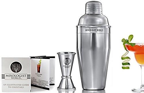 mixologista world premium cocktail shaker set con acero ino