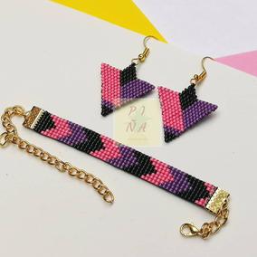 1a9578eb0f3b Miyuki Delica Aretes/pulsera Multicolor Miyuki Beads