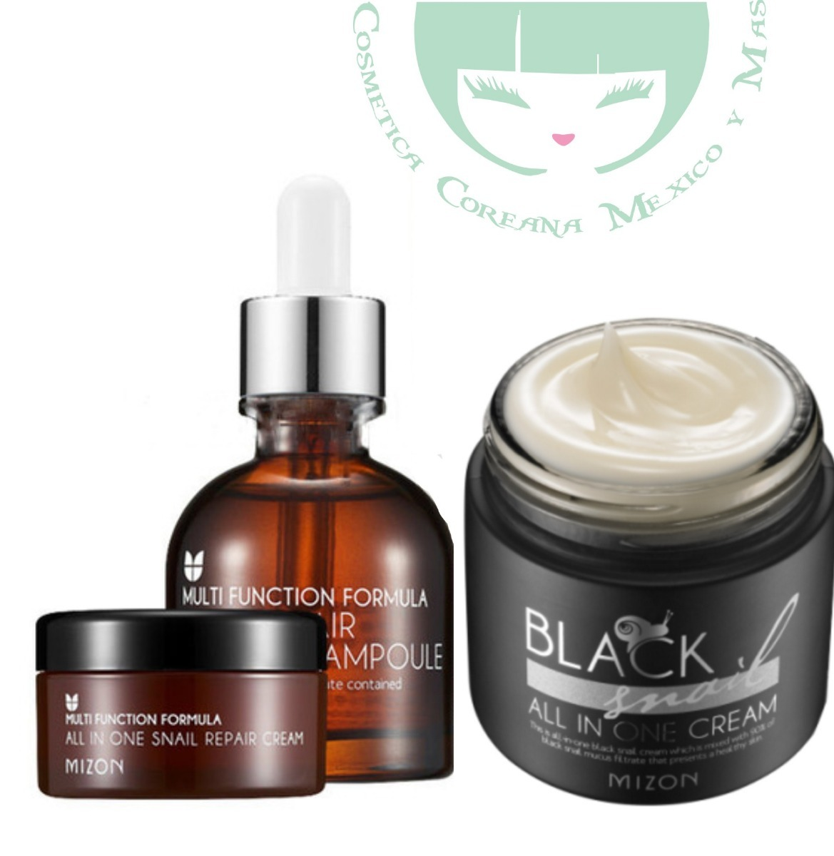 Mizon Serum Snail Intensive Ampoule Crema Black Msi 80000 En Blacksnail All In One Cream 75ml Cargando Zoom