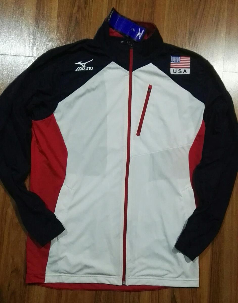 Mizuno Usa L De Olimpica Selección volleyball Talla Chaqueta rn0ZxrvW1