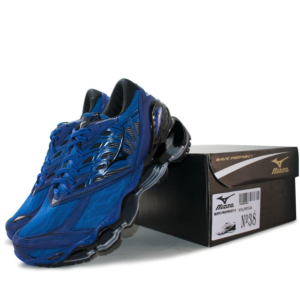 bcebb3886 Carregando zoom... tênis mizuno wave prophecy 8 masculino azul escuro