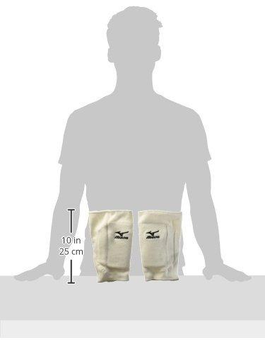 mizuno t10 plus kneepad, una talla, blanco
