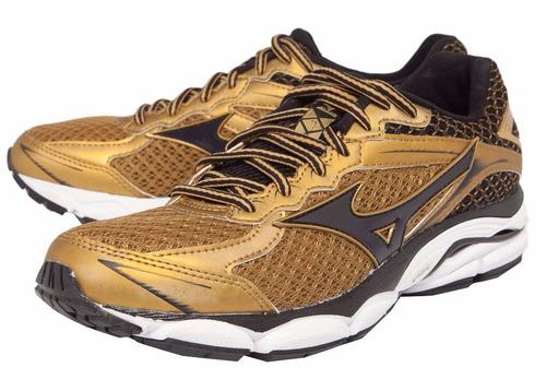 mizuno wave ultima 7 golden runners lançamento 2016 + brinde