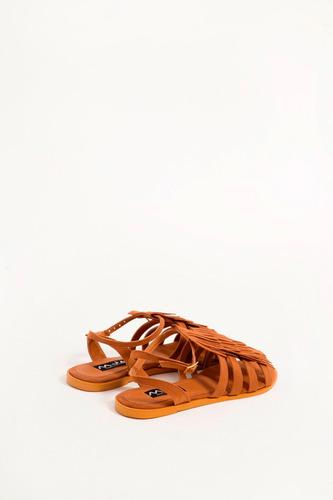 mja zapatos sandalias flecos marron