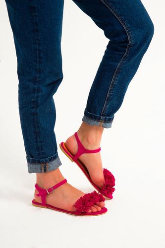 mja zapatos sandalias fucsia