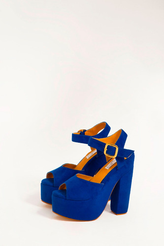 mja zapatos tacones azul rey