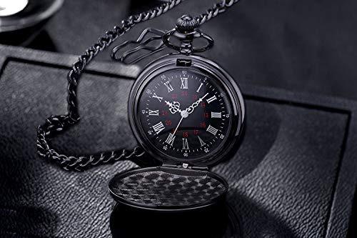0842e6245 Mjscphbjk Reloj De Bolsillo Negro Romano Patrón Steampunk - $ 57.777 ...