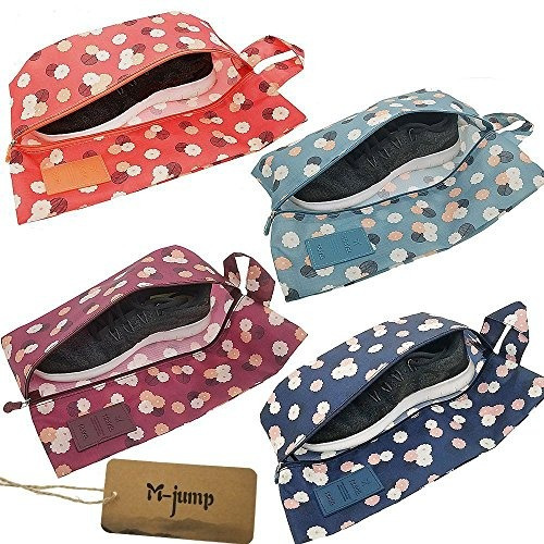 mjump 4 pack shoe bagsportable oxford travel shoe bags con c
