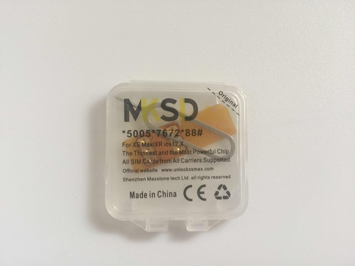 Mksd R-sim 14 iPhone Xs Max, iPhone Xr Ios 12 Edit Iccid