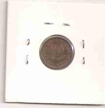 ml-0355 - moeda de moçambique - 20 cents. - 1973 - mbc