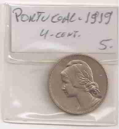 ml-0656 - moeda de portugal - 4 cents. - 1919