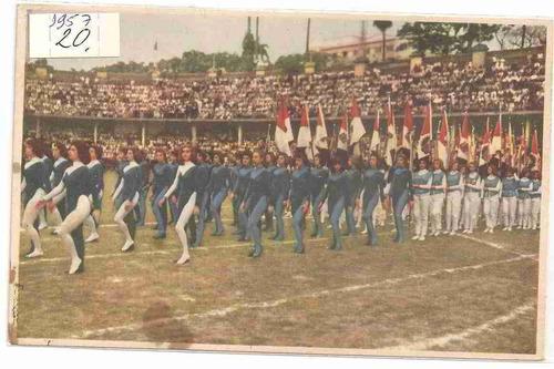 ml-0889 cartão postal brasil - colégio anglo-americano 1957