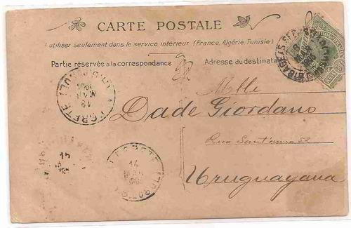 ml-0924 cartão postal antigo - uruguaiana rs - 1905