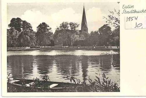 ml-0985 cartão postal antigo - alemanha 1954