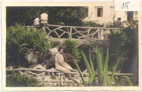 ml-1000 cartão foto postal antigo - colorido