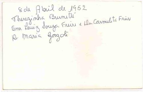 ml-1001 cartão foto postal antigo - 1952