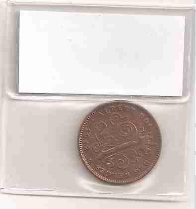 ml-3021 moeda belgica (2 cents.) 20mm 1912