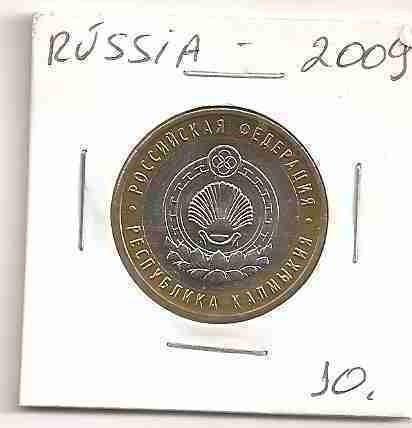 ml-3074 moeda russia ($10) 26mm 2009