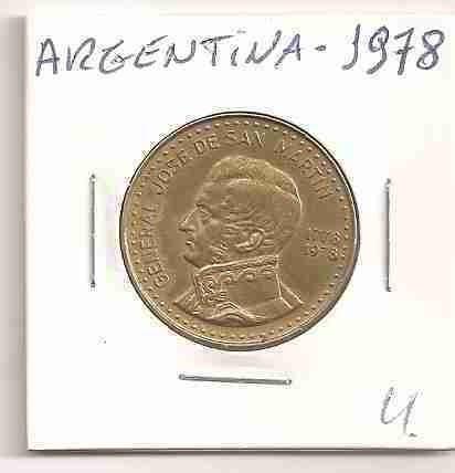 ml-3125 moeda argentina (100 pesos) 28mm 1978