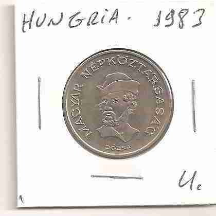 ml-3136 moeda hungria (20 forint) 26mm 1983