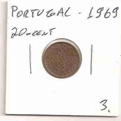 ml-3206 moeda portugal (20 centavos) 15mm 1969