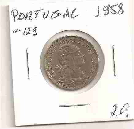 ml-3209 moeda portugal (50 centavos) 22mm 1958 nr.129