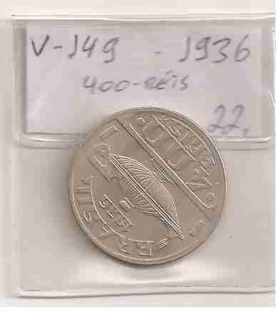 ml-3247 moeda brasil (400 réis) 1936 v-149