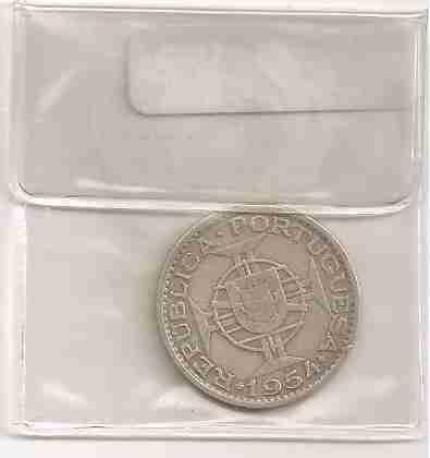 ml-3313 moeda moçambique (10$00) 23mm 1954