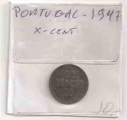 ml-3364 moeda portugal (x centavos) 16mm 1947