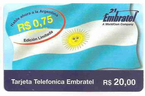 ml-3544 embratel r$20,00 - bandeira argentina 75.000x s/fab.