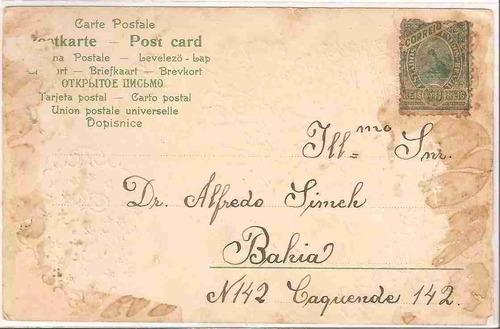 ml-4407 cartão postal antigo 1904