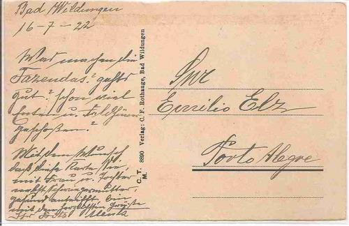 ml-4420 cartão postal antigo - alemanha - 1922