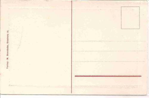 ml-4432 cartão postal antigo - hamburg - alemanha