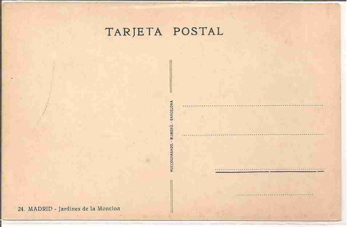 ml-4442 cartão postal antigo - madrid - espanha