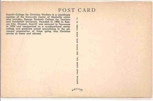 ml-4451 cartão postal antigo - nasville tennessee usa
