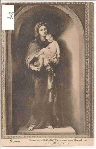 ml-4454 cartão postal antigo - roma, itália