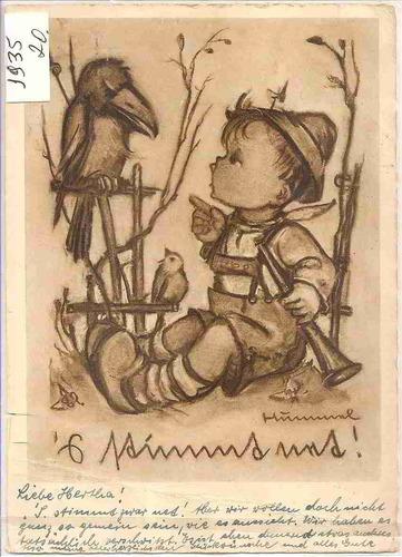 ml-4457 cartão postal antigo - alemanha 1935